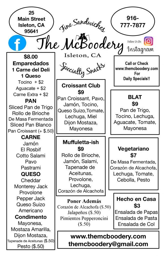 menu in spanish